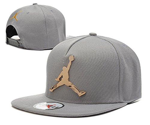 927e3517bc1 lisbeth 2018 AJ Unisex Hat Iron Standard Hip-hop Cap(Gray with Gold Logo