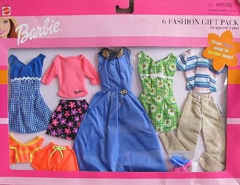 Barbie 6 FASHION Gift Pack w FUN & FORMAL Wear FASHIONS (1999)