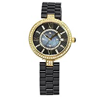 Stella Maris Women's Wrist Watch - Analog Quartz - Premium Ceramic Strap - Mother-of-pearl Dial - Diamonds and Swarovski Elements - STM15SM6