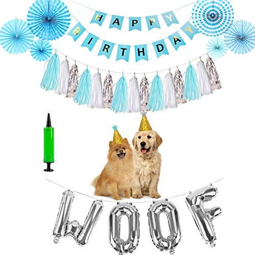 Legendog Haustier-Geburtstags-Dekorations-Set sortierte Partei liefert Gastgeschenke für Katzen-Hund - Ballon Brief X