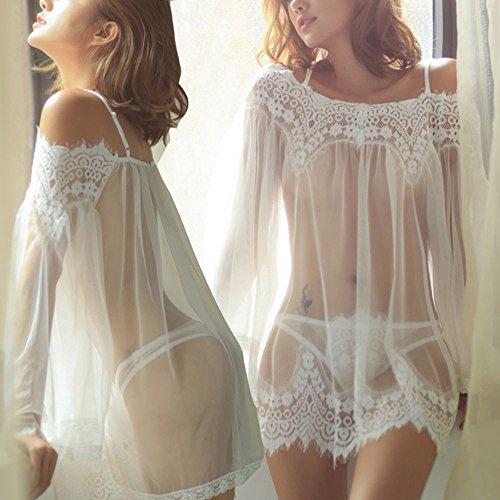 Pwtchenty Unterwäsche Damen Slip, Minikleid rückenfreie Clubwear Nachtwäsche, Mini Nachtkleid Bodysuit Reizvolle, Damen Perspektive Lingerie - 2