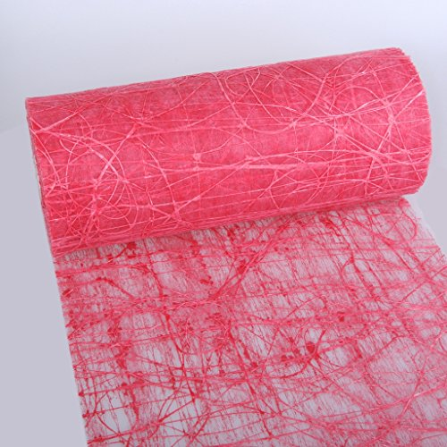 Dekoweb runner da tavola–nastro–rosso–30cm larghezza–15m lunghezza + 100gespiegelte decorazione cuori gratis–54–300–15–009