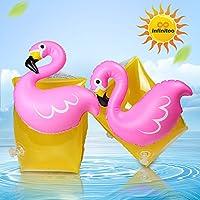 infinitoo Brassard Enfant Brassard Gonflable Flamingo de Natation Pool Float