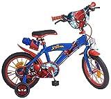 Tomisa- Spiderman Bicicleta con Pedales, 85.6 x 50.3 x 21.3 (874)
