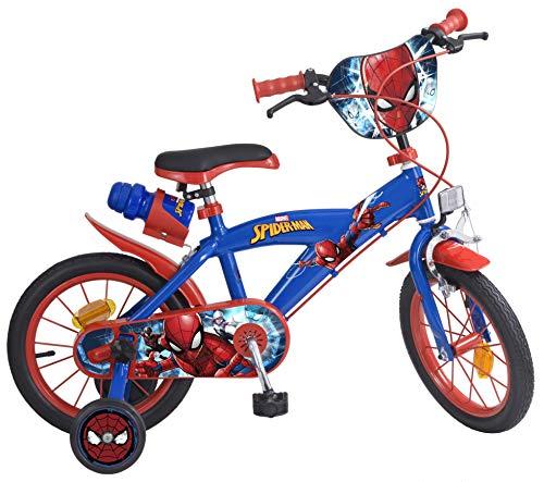 Toimsa 874 - Spiderman, Bicicletta per Bambino, Dimensioni 14', da 4 a 7 Anni