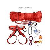 WYX Kletterseil Kletterseil Outdoor Survival Kit Mehrzweck Notfall Ausrüstung Erste Hilfe Survival Gear Tool Kits Set Für Reisen Wandern Camping Sicherheit Seil Outdoor