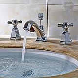 ZHFC- -alle verkupferung verchromte doppel - waschbecken wasserhahn wasserbad