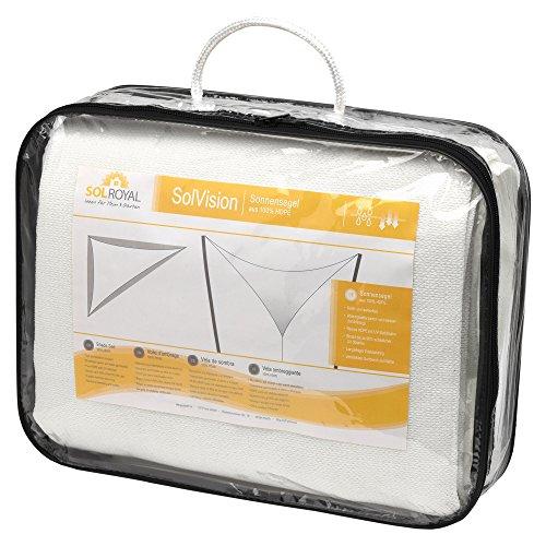 confronta il prezzo Sol Royal Tenda a vela traspirante 300x300x300 cm SolVision HS9 - protezione triangolare parasole e anti UV - bianco miglior prezzo