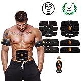 IMATE Intelligent Wireless Abs Muskeltrainer, Tragbar EMS Toner Gürtel für Bequem Männer und Frauen - 15 Intensitäten des Trainings(Orange)