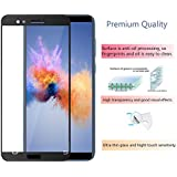 Honor 7X Tempered Glass Screen Protector Edge To Edge Fit 9H Hardness Bubble Free Anti-Scratch Crystal Clarity 2.5D Curved Screen Guard For Honor 7X | Black