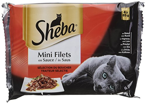 Sheba Beutel Frische für Katzen Mini Filets in Sauce Multi Sorten 13 Pack 85 g - Mini-filets