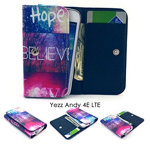 ZEWOO Etui/Portefeuille en Similicuir pour Yezz Andy 4E LTE (4 Pouces) Coque Housse Protecteur - (2#) Hope Coloré