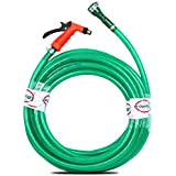"Pepper Agro Garden Car Wash Watering Brass Water Gun With Braided Hose Pipe 1/2"" Inch, 20 Meter"