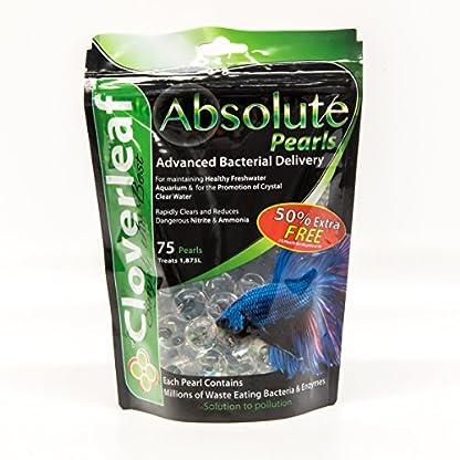 Cloverleaf ABPAQ75 Absolute Aquarium & Small Pond Pearls, Clear 1