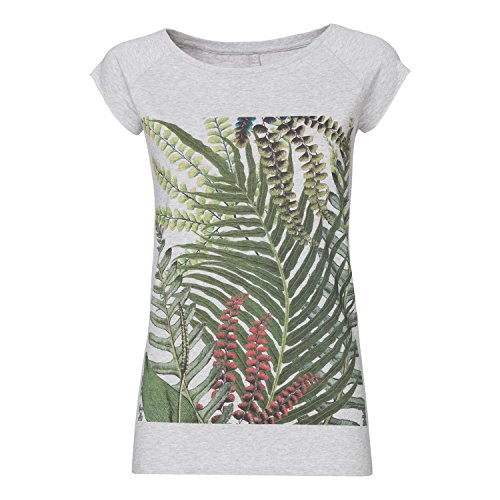 La La Cap Sleeve T-shirt (ThokkThokk Jungle Cap Sleeve melange aus 100% Biobaumwolle hergestellt // GOTS und Fairtrade zertifiziert, Größe:L)