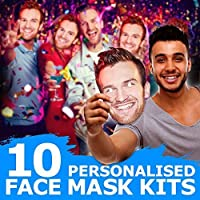 Lord Fox 10 x PERSONALISED DIY CUSTOM PHOTO PARTY FACE MASKS