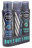 #2: Nivea Fresh Active Deodrant, 150ml (Buy 2 Get 1 Free)