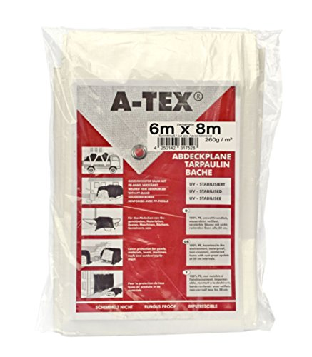 A-Tex gewebeverstärkte Abdeckplane 260 g/ m², Größe:6 x 8 m