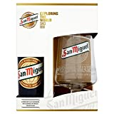 San Miguel Chalice Pint Glass and 330 Millilitre Box Set (1 Glass and 1 Bottle)