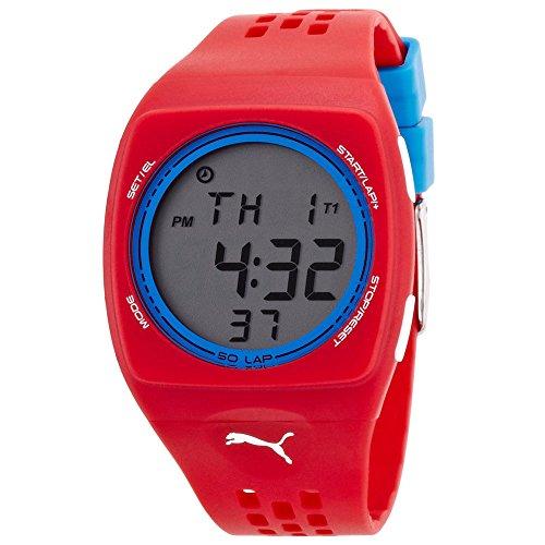 Puma Unisex PU910991007 Faas 300 Red Digital Watch