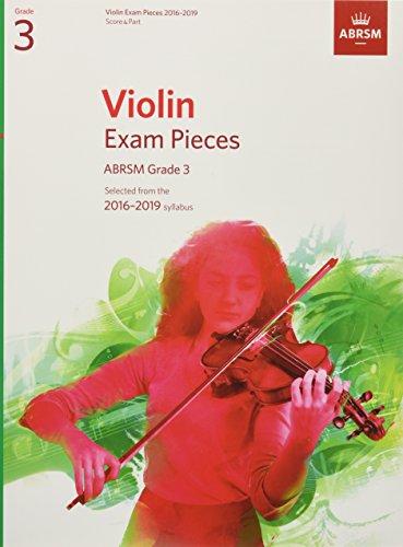 Violin Exam Pieces 2016-2019, ABRSM Grade 3, Score & Part Cover Image