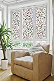 DPS&RXX Statische Privatsphäre Glasmalerei Fensterfolie,Anti-UV selbstklebend Blickdicht Sichtschutzfolie Glasdekorfolie, für Haus & Küche & Büro Badezimmer