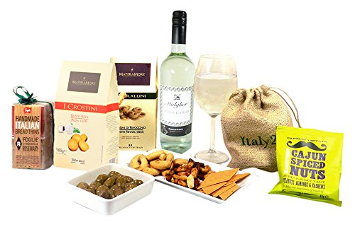 Hay Hampers Wine and Nibbles Birthday Hamper Box