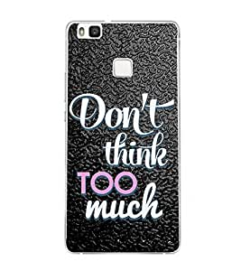 PrintVisa Message Think Pattern High Glossy Metal Designer Back Case Cover for Huawei P9 :: Huawei G9 Lite, Honor 8 Smart (India)