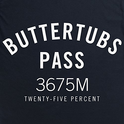Cycling - Buttertubs Pass T-Shirt, Herren Schwarz