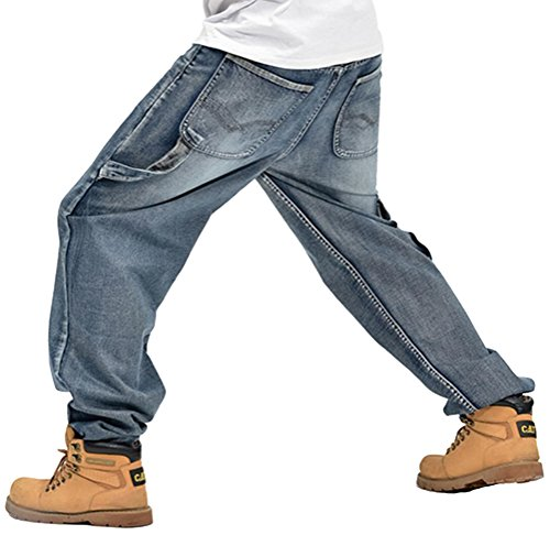 Chomay Herren Hip Hop Hipster Rap Style Baggy Jeans Chino Cargohose Arbeitshose Jeanshose W28 bis W44 A059