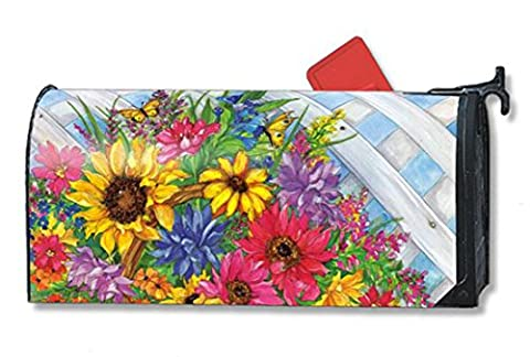 Blooming Basket LARGE MailWraps Magnetic Mailbox Cover