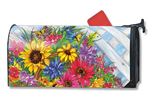 Blooming Korb, groß Mailwraps magnetisch Mailbox Cover (Mailwraps-adapter-kit)