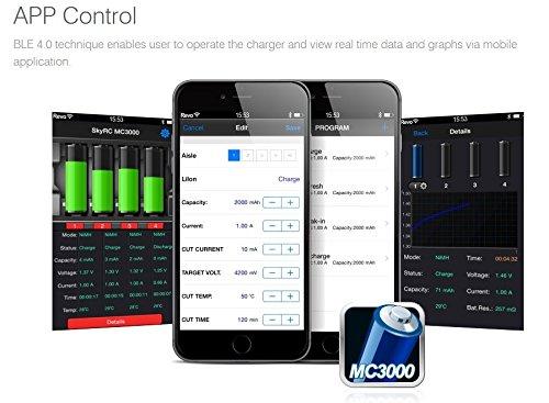 ARINO SKYRC MC3000 Universal Batterietester Bluetooth Batterieprüfer Akku  Batterietestgerät mit Display für Batteriezustand Akkutester Unterstützt 42 Batteriegröße, PC sowie App-Steuerung