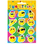 The Harlequin Brand 24 x Smiley Face Sticker Sheets
