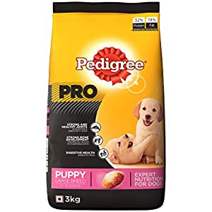 Pedigree PRO Expert Nutrition Large Breed Puppy (3-18 Months) Dry Dog Food, 3kg Pack
