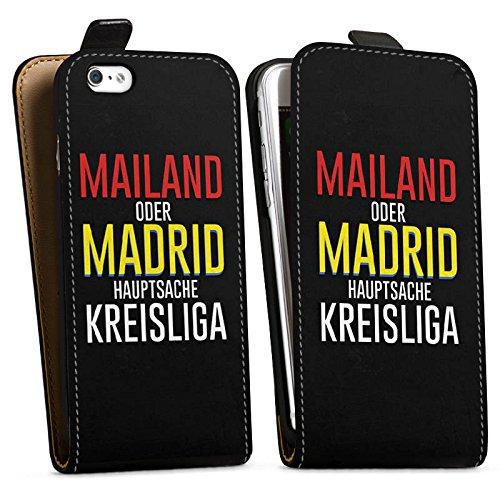Apple iPhone X Silikon Hülle Case Schutzhülle Kreisliga Fußball Sprüche Downflip Tasche schwarz