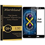 Huawei Tempered Glass Full Glue Edge To Edge Full Cover (Black) Protection 9H Hardness 0.33mm Thickness Bubble Free Shatter Proof Scratch Resistant Tempered Glass Original Screen Protector For Honor 6X Marshland®
