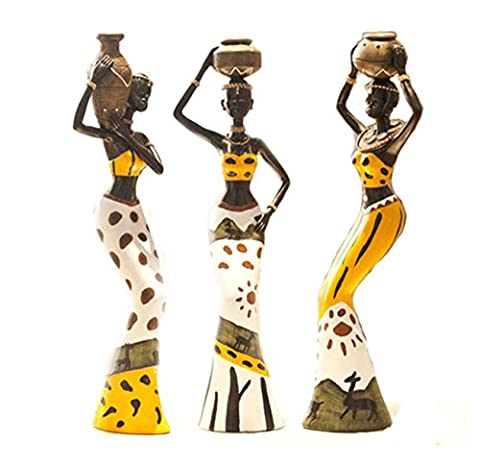 Creative Home Decoration Decoration Resin Doll African Character Decorations New Room Living Room Decoration Decoration Crafts - Vase Trio