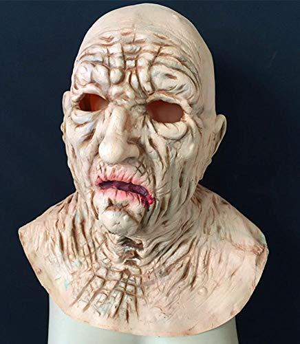 Littlefairy Maske,Halloween Horror Alien Perücke, Geisterhaus Zombie Assistenten Teufel Maske