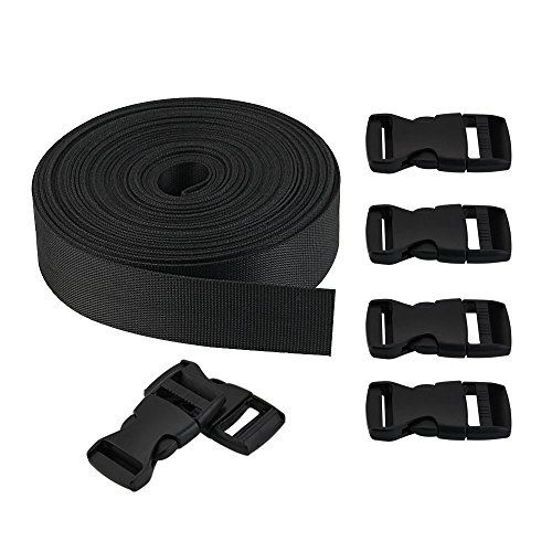 51jELkAiA%2BL. SS500  - Golrisen Webbing Straps Nylon 10 Yards Flat Side Release with 6 Pairs Buckles Heavy Strap for DIY Making Luggage Strap Binding Sundries Cartons Books