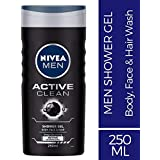 Nivea Active Clean Shower Gel For Men, 250ml