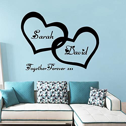 Vinyl wandaufkleber liebendes herz Hauptdekorationen Aufkleber Für schlafzimmer Dekor tapete Art Decals ~ 1 43 * 55 cm