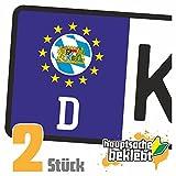 Bayern Kennzeichen Aufkleber Sticker Nummernschild Land Country Nation