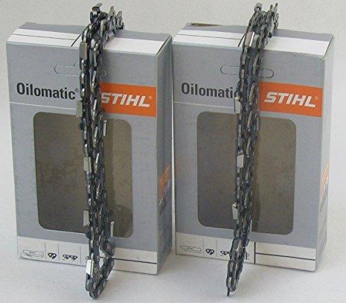 2x STIHL Hochleistungs Sägekette Rapid Super (RS) Vollmeißel 3/8\' 1,6mm 40cm (3621 000 0060)