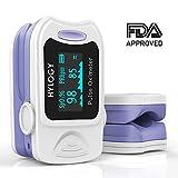 Pulsoximeter, HYLOGIGIE, Blutsauerstoffsättigung, mit Tragetasche, Batterien und Trageband, automatisches Abschalten un