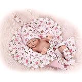 Nicery Renacer Bebé la Muñeca Simulación Silicona vinilo duro 10 pulgadas 26cm Juguete Boca Impermeable Pink Quilt Niña Cerrar los ojos