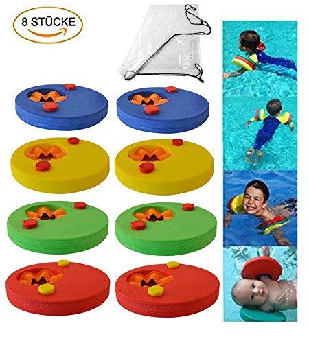 KingShark Schwimmscheiben, 8 Stücke Schwimmhilfe Schwimmflüge, Schwimmreifen Schwimmringe Swim Discs für Kleinkinder…