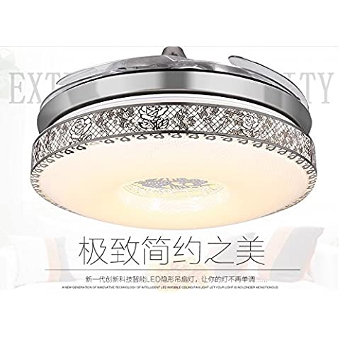 CHJK BRIHT Ventilatore invisibile di luce Ventilatore da soffitto ristorante