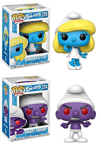 Funko POP The Smurfs Smurfette Gnap Smurf Stylized Vinyl Figure Set NEW