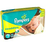 Pampers Stages Swaddlers New Baby Diapers Size 1 (8-14 lb) Jumbo Pack by Pampers